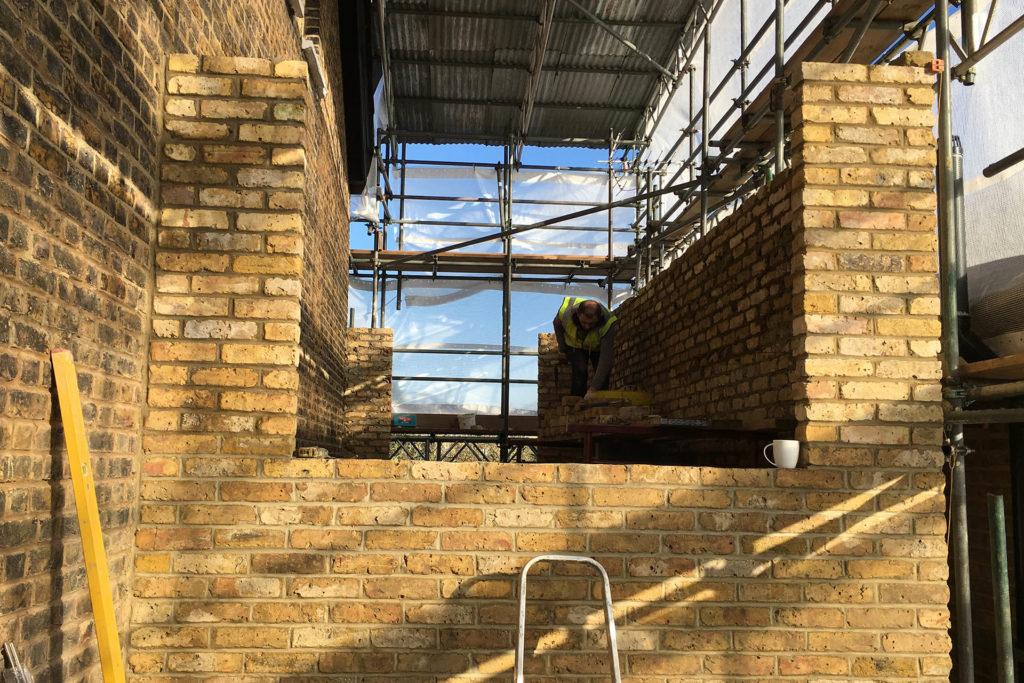 NW10 project brickwork